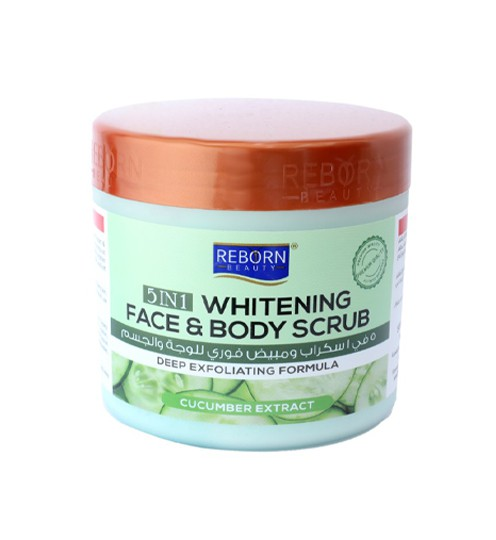 5 In 1 Whitening Face & Body Scrub Cucumber Extract 500ml